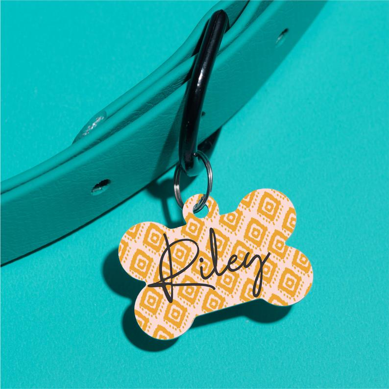 Happy Tiles Pet ID Tag - The Dapper Paw