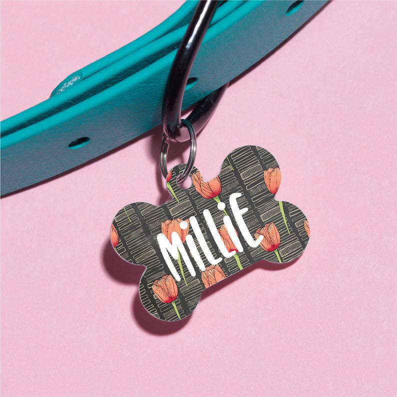 Tulips by Millie Pet ID Tag - The Dapper Paw