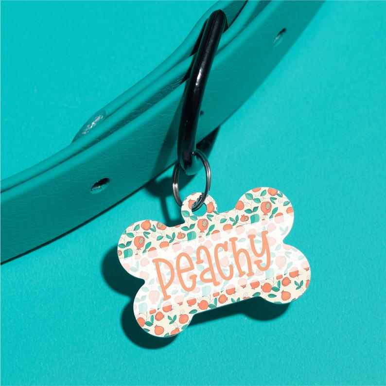 Just Peachy Pet ID Tag - The Dapper Paw
