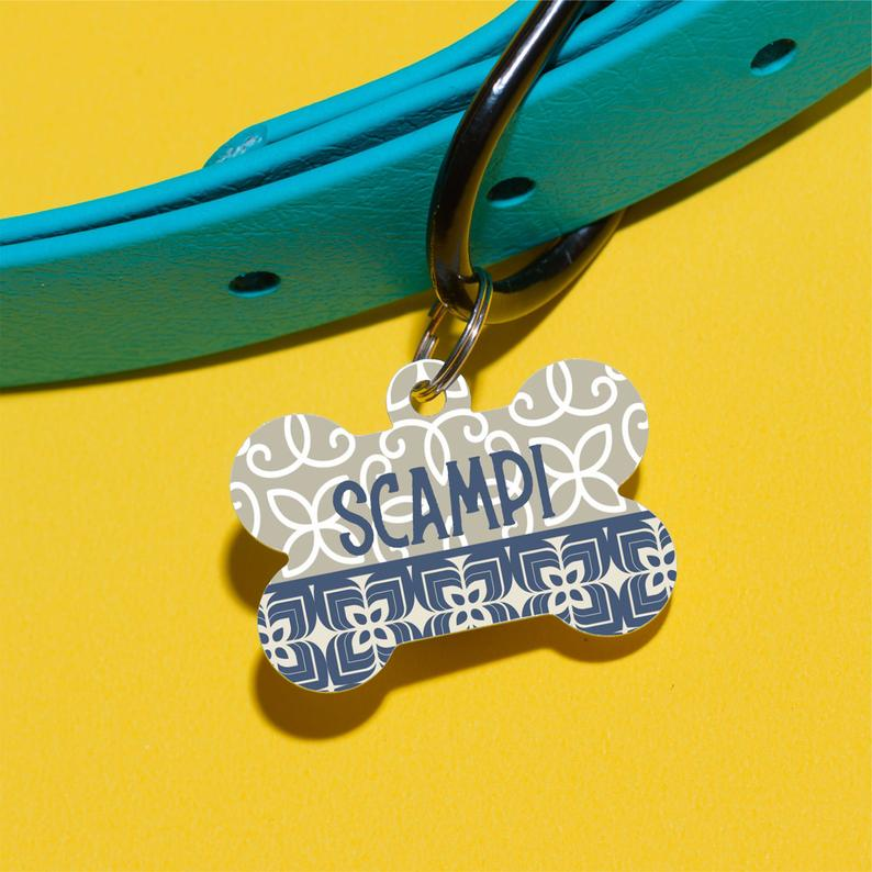 Scampi's Tile Pet ID Tag - The Dapper Paw