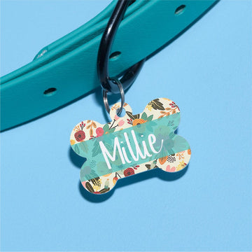 Millie's Floral Pet ID Tag