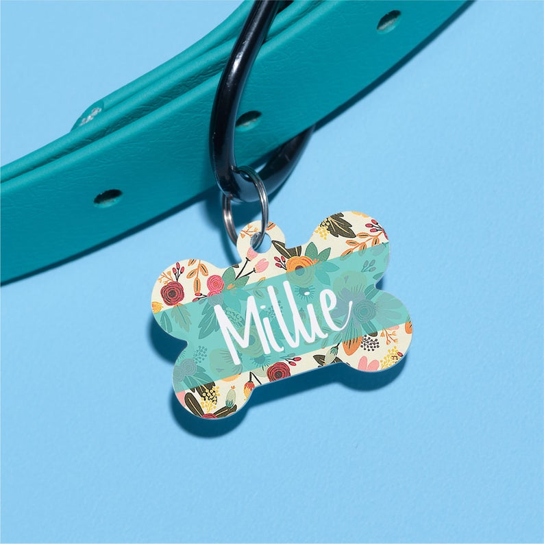 Millie's Floral Pet ID Tag - The Dapper Paw