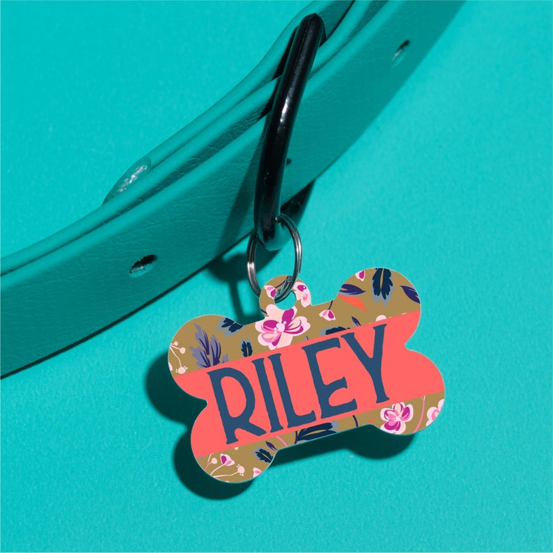 Riley Floral Pet ID Tag - The Dapper Paw