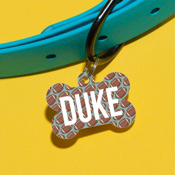 Talk Football To Me Pet ID Tag - The Dapper Paw