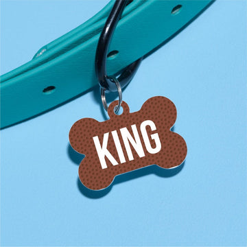 F is for Football Pet ID Tag - The Dapper Paw