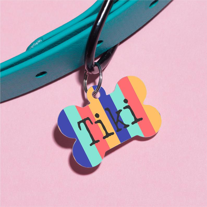 Stripes for Days Pet ID Tag - The Dapper Paw