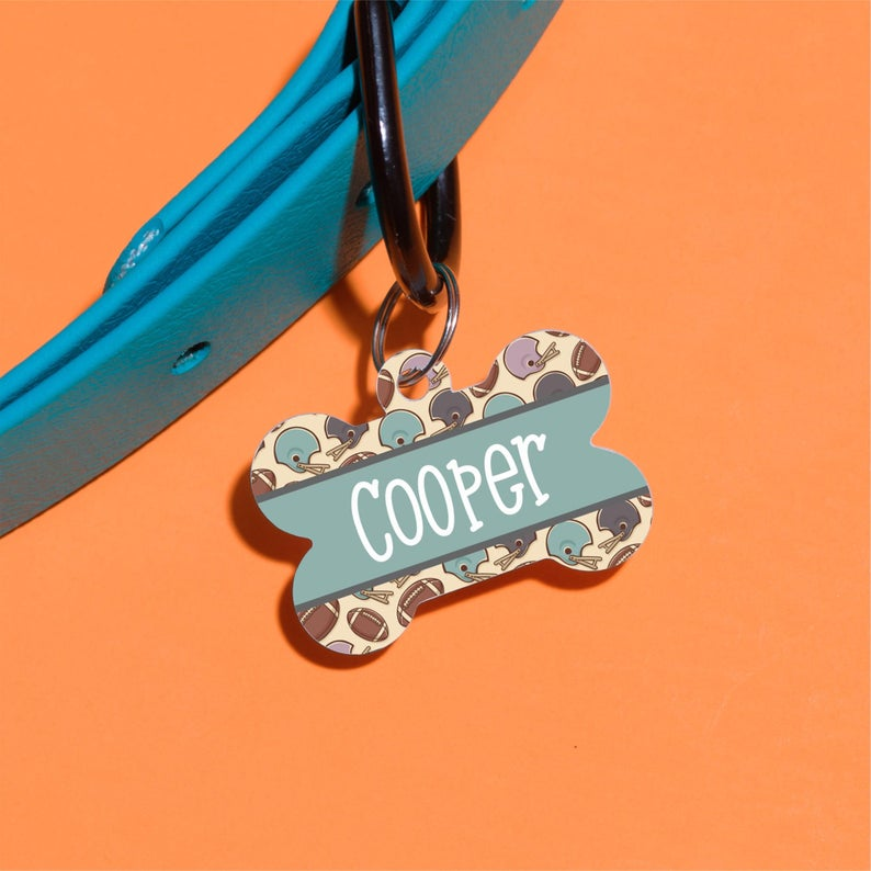 Touchdown Pet ID Tag - The Dapper Paw