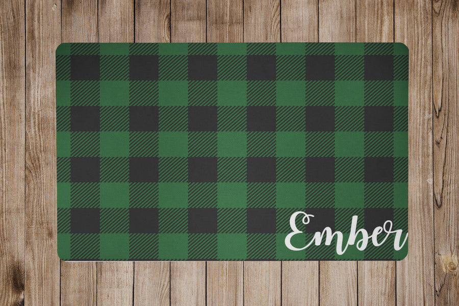 Green Buffalo Plaid Placemat - The Dapper Paw
