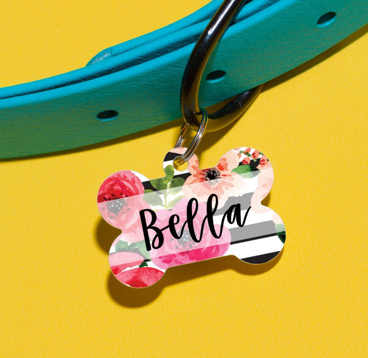 Kate Floral Pet ID Tag - The Dapper Paw