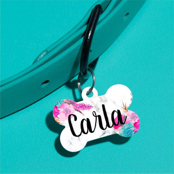 Marble Floral Pet ID Tag - The Dapper Paw
