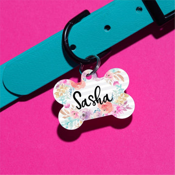 Pastel Floral Pet ID Tag - The Dapper Paw