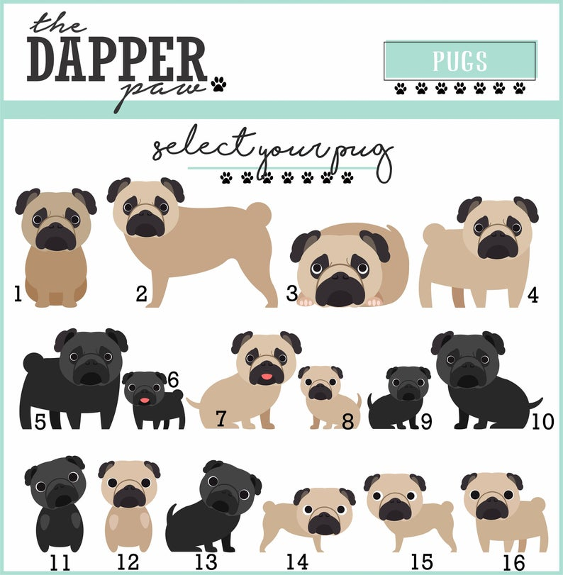 Pug Mouse Pad - The Dapper Paw