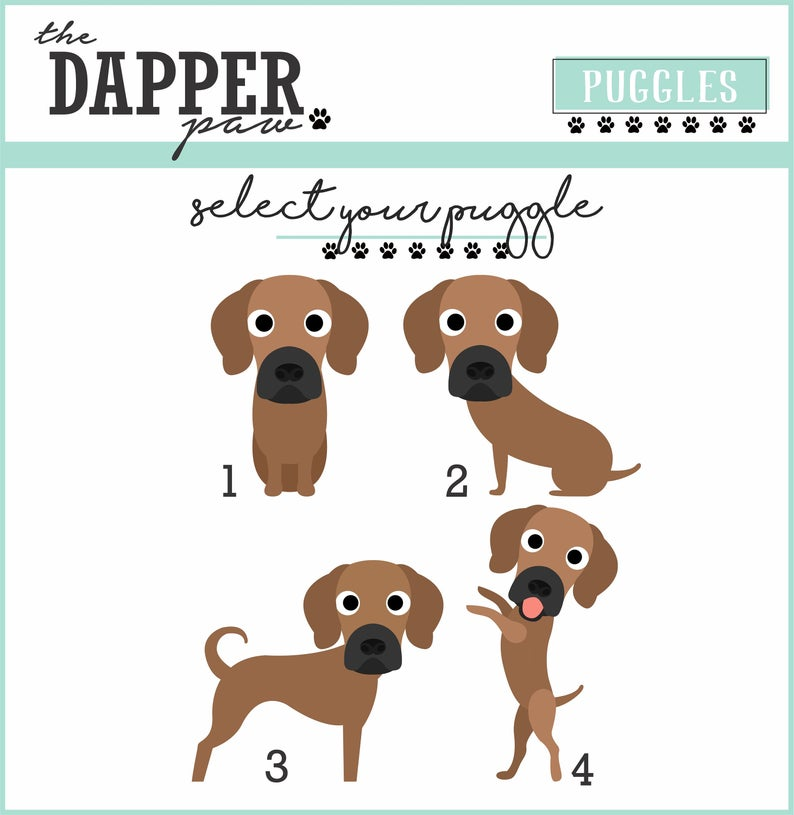 Puggle Mouse Pad - The Dapper Paw