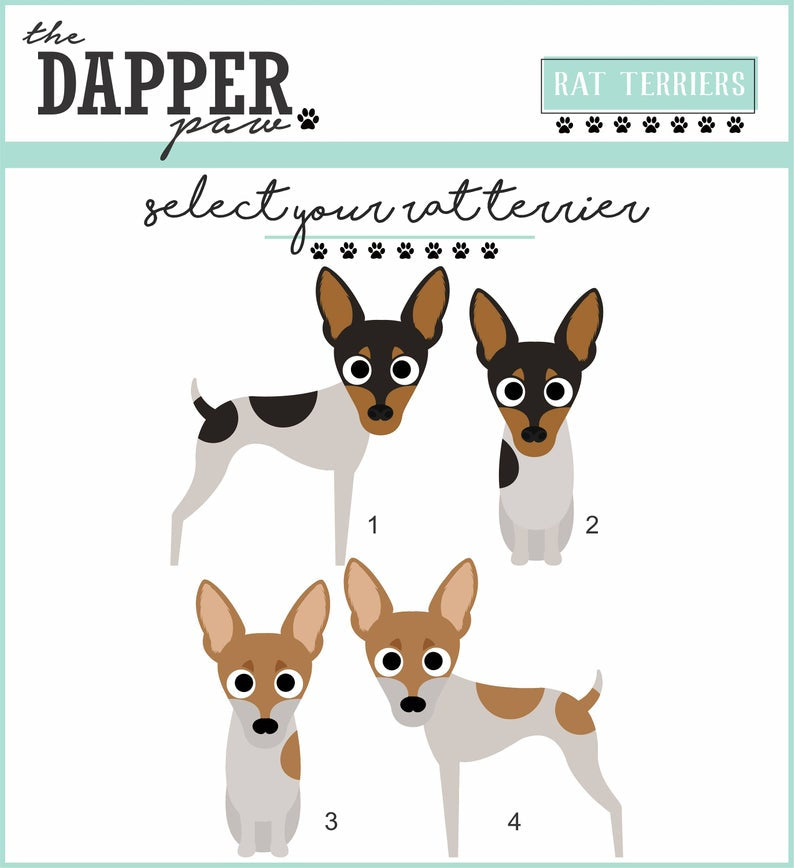 Rat Terrier Mouse Pad - The Dapper Paw