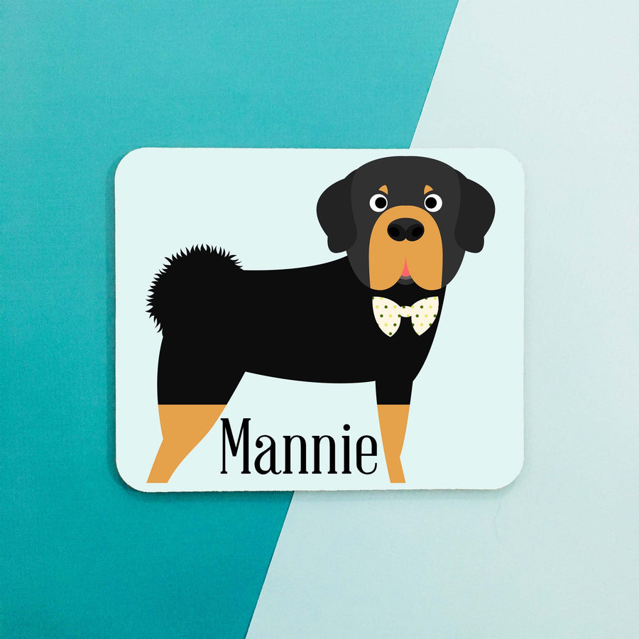 Tibetan Mastiff Mouse Pad - The Dapper Paw