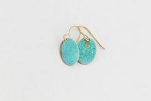 Small Oval Patina Earrings