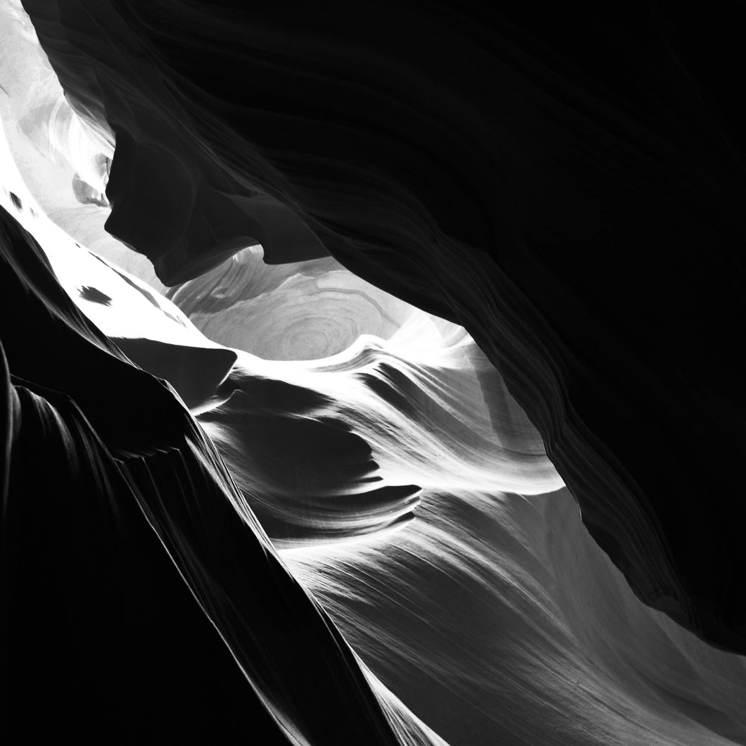 Antelope Canyon in Black and WhiteSquared