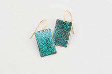 Medium Rectangle Patina Earrings