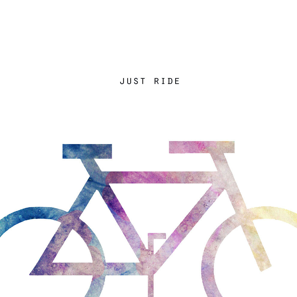 Just Ride Square Print