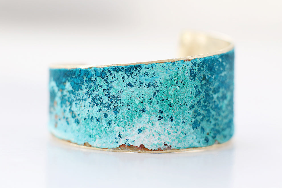 Asymmetrical Patina Cuff