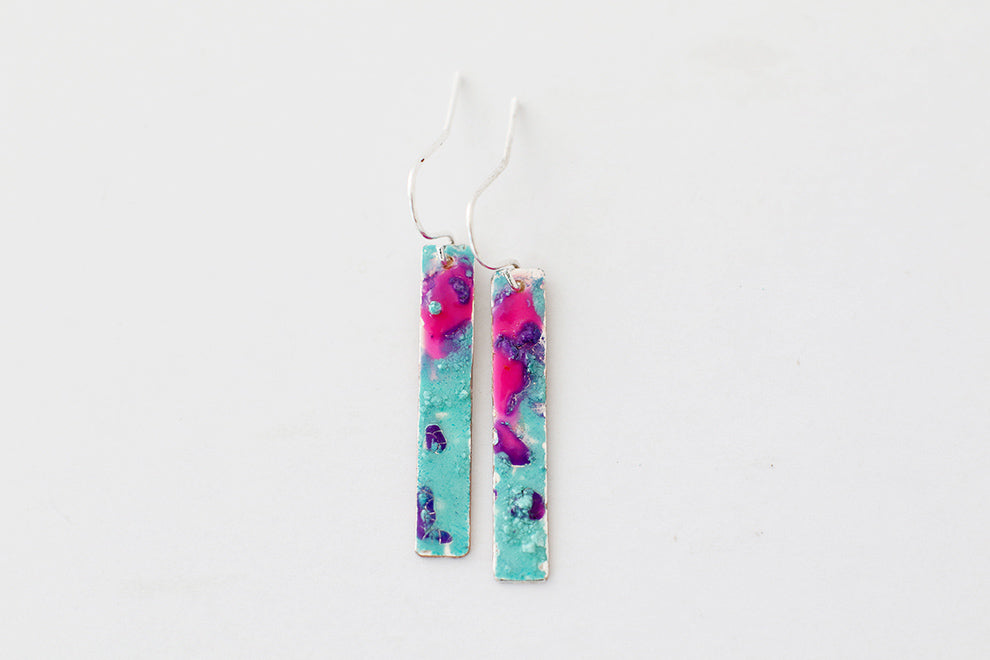 Florid Silver Teenie Earrings