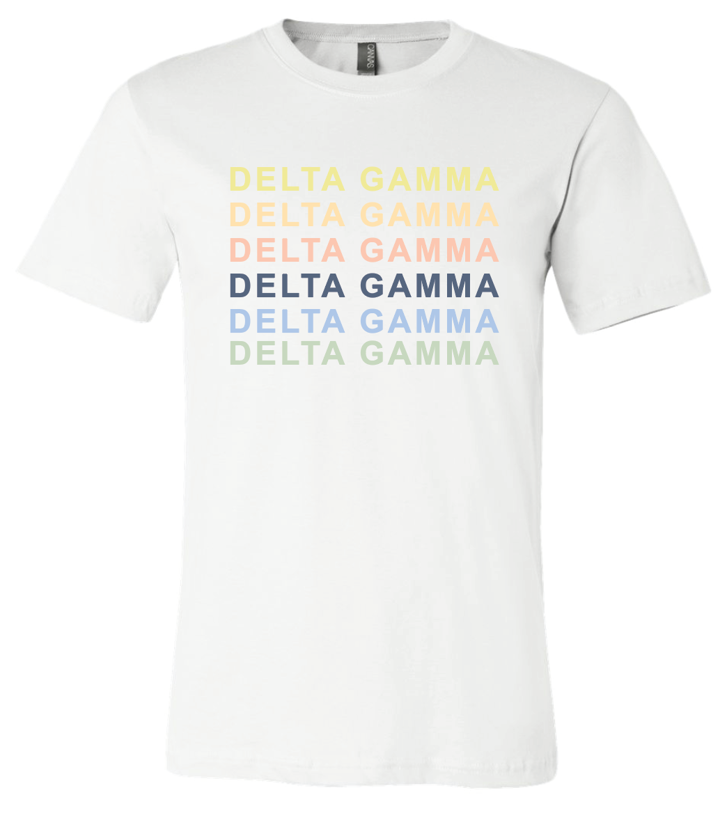 Delta Gamma Anchor Splash Rainbow Shirt