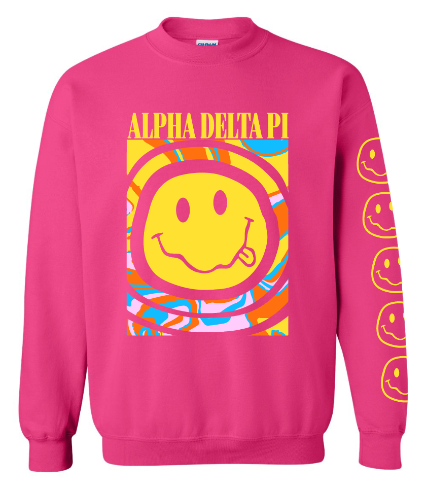 Chico Smiley Crewneck - Pink