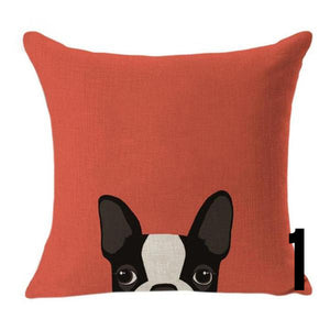 Boston Terrier Cute Cushion Cover
