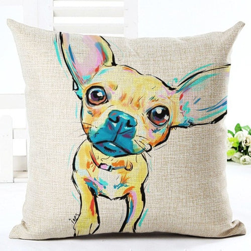 Chihuahua - Square Painted Cushion