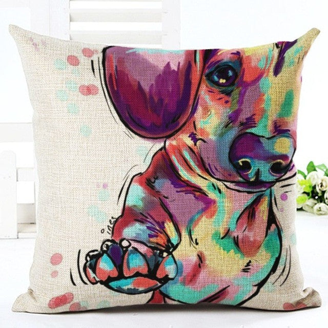 Dachshund - Square Painted Cushion - SPECIAL OFFER!