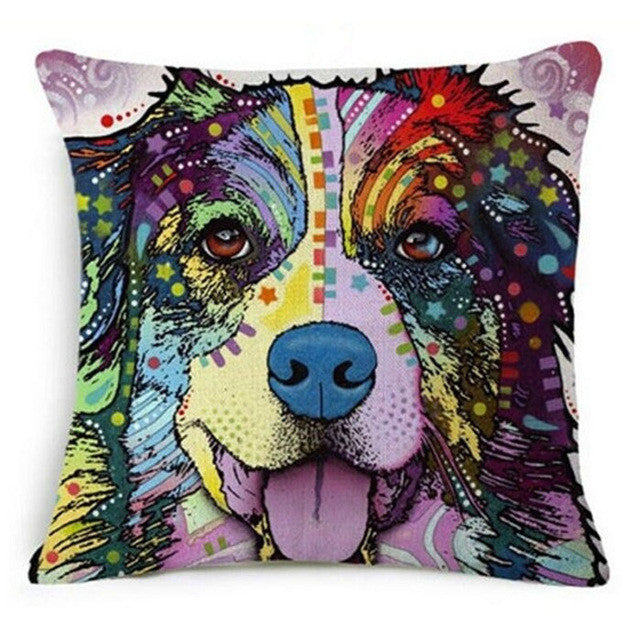 Amazing Oil Painting Dog Cushions