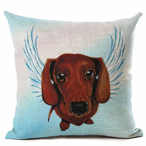 Dachshund - Cute Angel Series Square Cushion