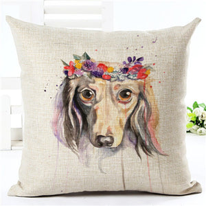 2017 Lovely Afghan Hound Cushion