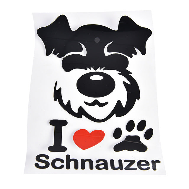 I Love My Schnauzer Car Sticker