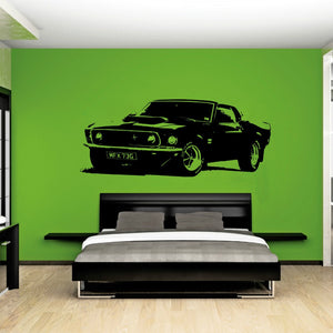 Ford Mustang 1969 - Awesome Muscle Car Sticker - SPECIAL OFFER