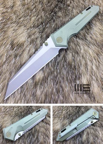 We Knife 609 609F S35VN Steel Titanium Handle Frame Lock