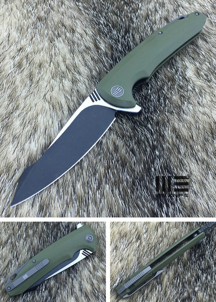 We Knife 617 617C D2 Steel Green G10 Handle