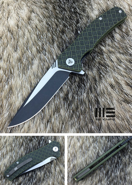 We Knife Blitz 711B VG-10 Steel Green/Black G10 Handle