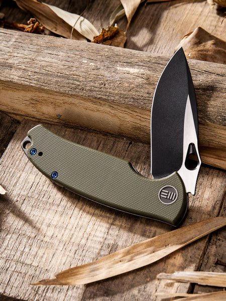 We Knife Rectifier 803A S35VN Steel Green G10 Handle