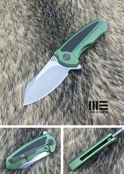 We Knife Valiant 717F S35VN Steel Titanium Handle Frame Lock