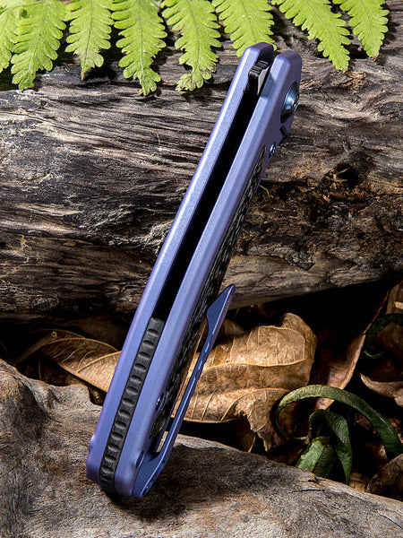 We Knife Wisp 805A CPM-S35VN Steel Blue Titanium Handle