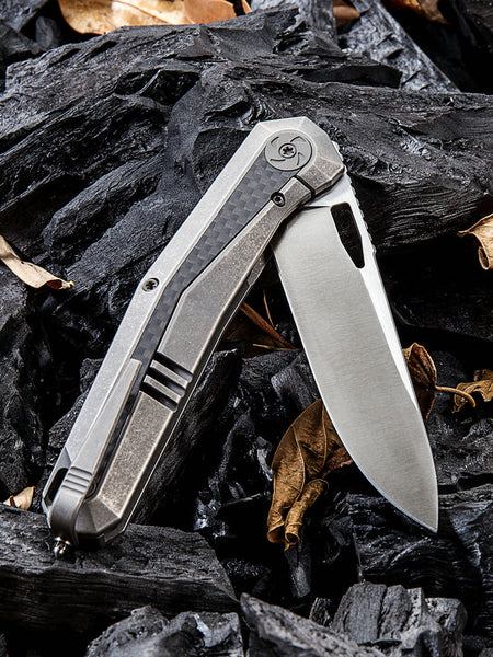 We Knife Caliber 808B S35VN Steel Titanium Handle Frame Lock