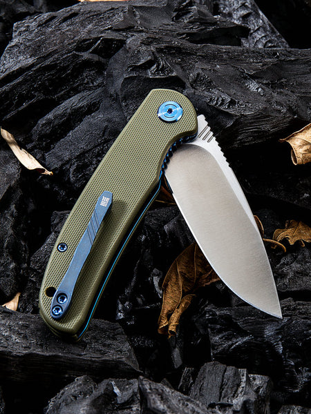 We Knife Practic 809A Green Bohler M390 Steel G10 Handle Liner Lock