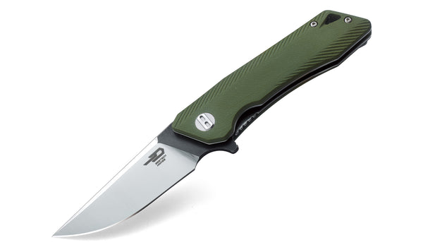 Bestech Knives Thorn BG10B-1 Green G10 Handle 12C27 Stainless Knife