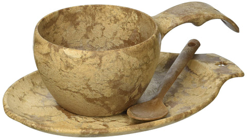 Kupilka Eco Dishware Gift Set Cup Platter & Spoon - Brown