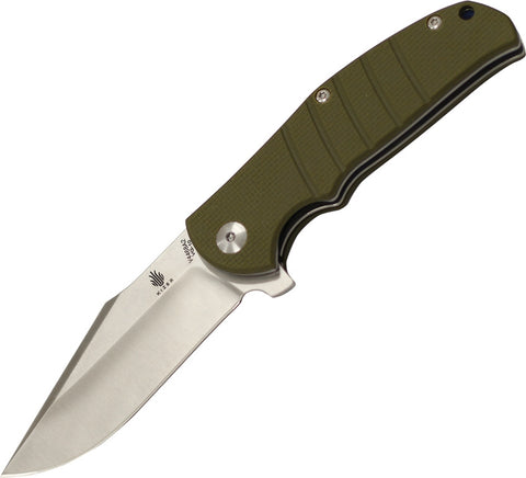 Kizer Vanguard Intrepid Green G-10 Flipper VG-10 Knife V4468A2