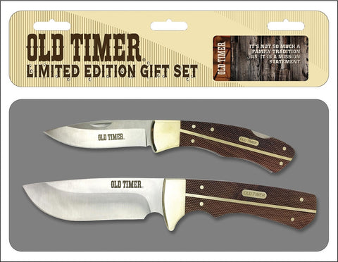 Schrade Old Timer Limited Edition 2 Knife Gift Set
