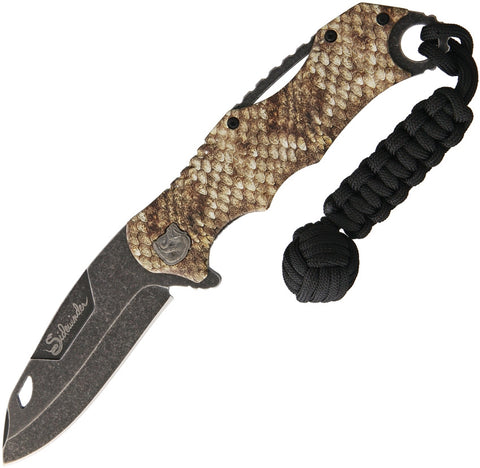 Rough Rider Sidewinder Assisted Opening Rattlesnake Pattern Handle Knife RR1538