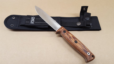 Ontario Bushcraft Field Knife 8696 Walnut Handle Nylon Sheath 5160 Steel