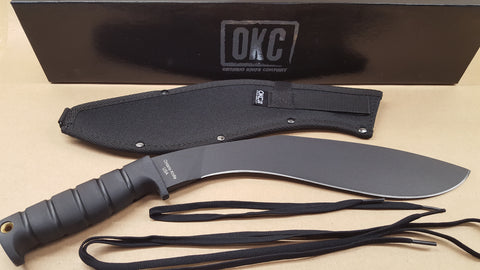 Ontario Kukri Knife 6420 Black Powder Coat Carbon Steel + Nylon Sheath